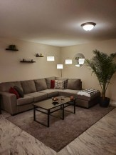 Minimal modern rustic living room