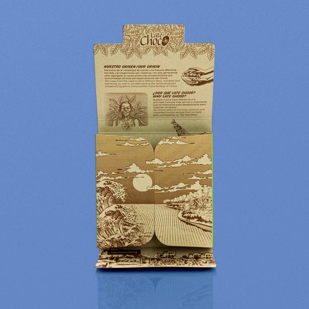 Chocolate blanco con matcha y menta abierta