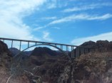 A photo of the bridge at the Hoover Dam