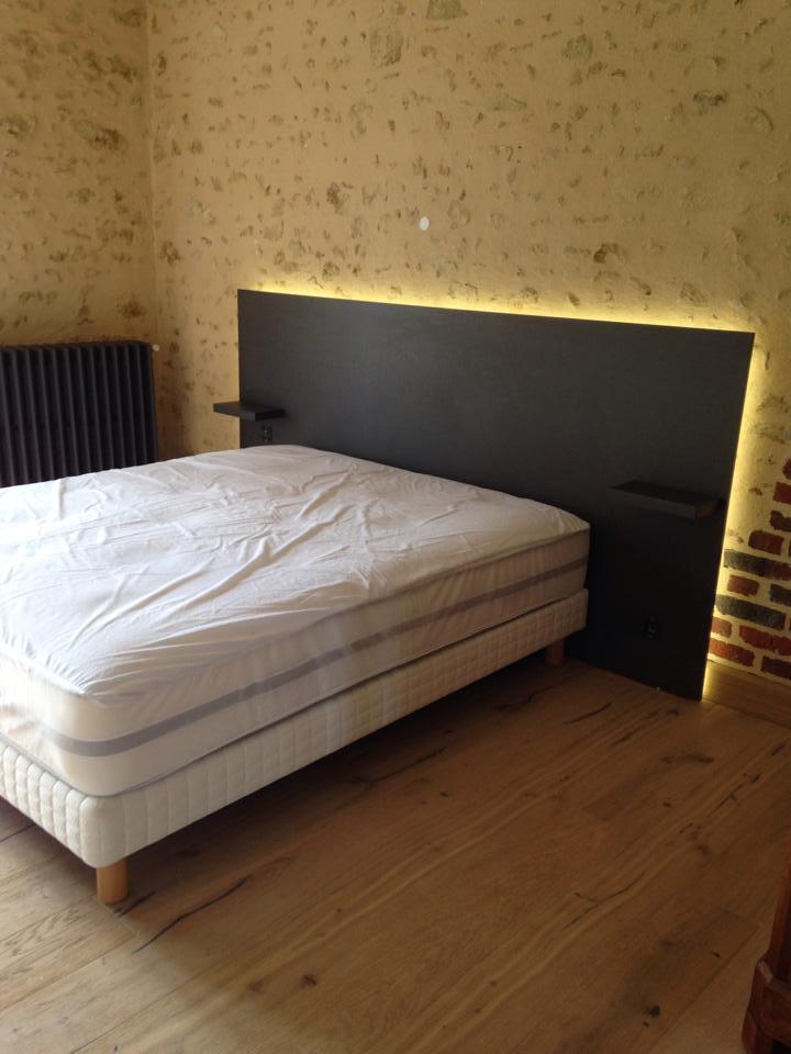 tete de lit stratifie avec led l