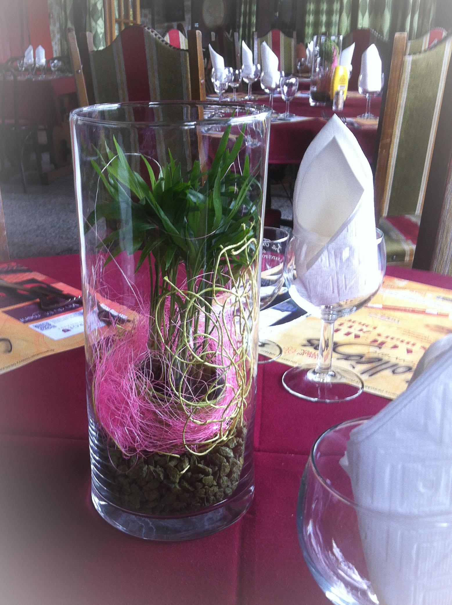 Centres De Table Colo Pour Un Restaurant De La Banlieue