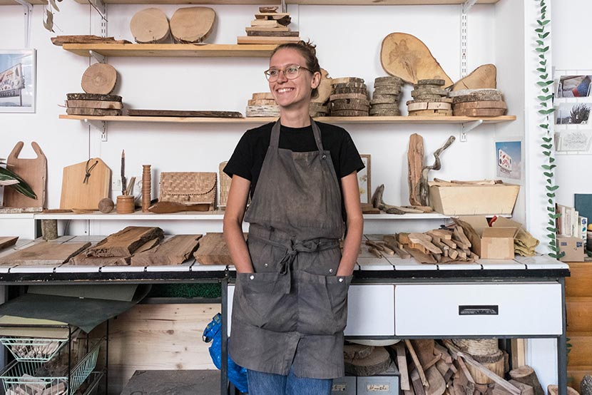 Morgane Ricada, artisan du bois