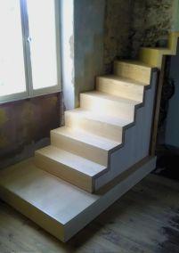 Escalier bois multi essences