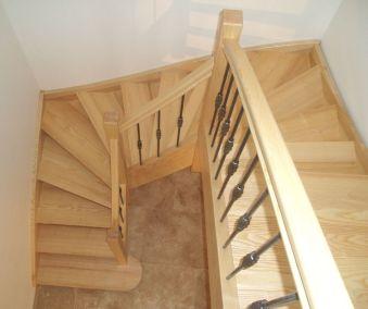 escalier balancé marche frêne Barbières, 26