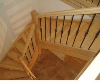 escalier balustrade bois sur mesure