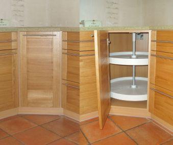 meuble cuisine panier tournant ouvert fermé
