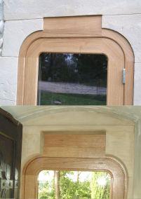 porte chêne église ajustage linteau pierre