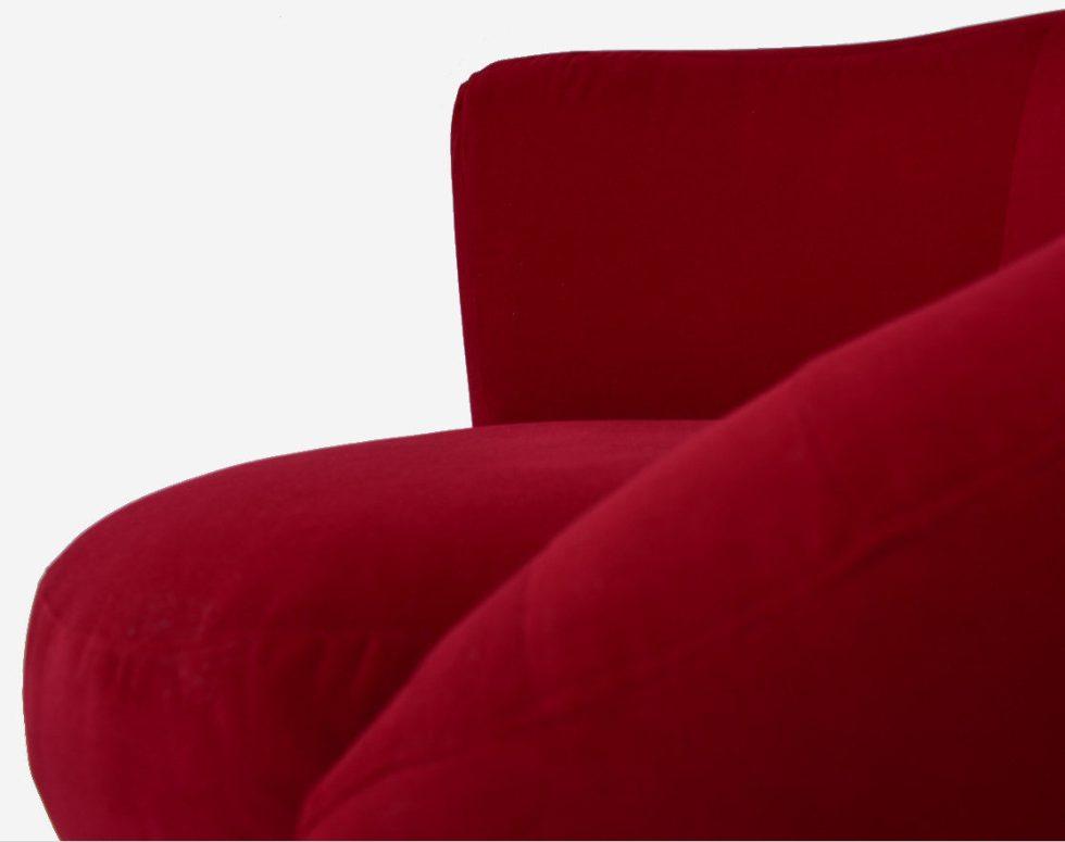 Fauteuil asymétrique rouge