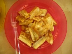 hand cut fried banana chips (made by Isabel)