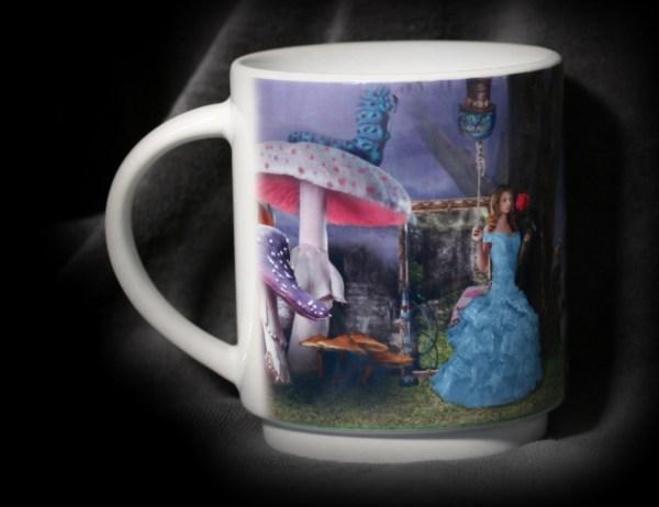 mug profil qualité empilable alice pays merveilles champignons empilable