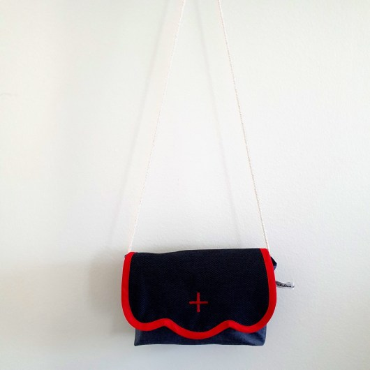 Sac besace fille croix