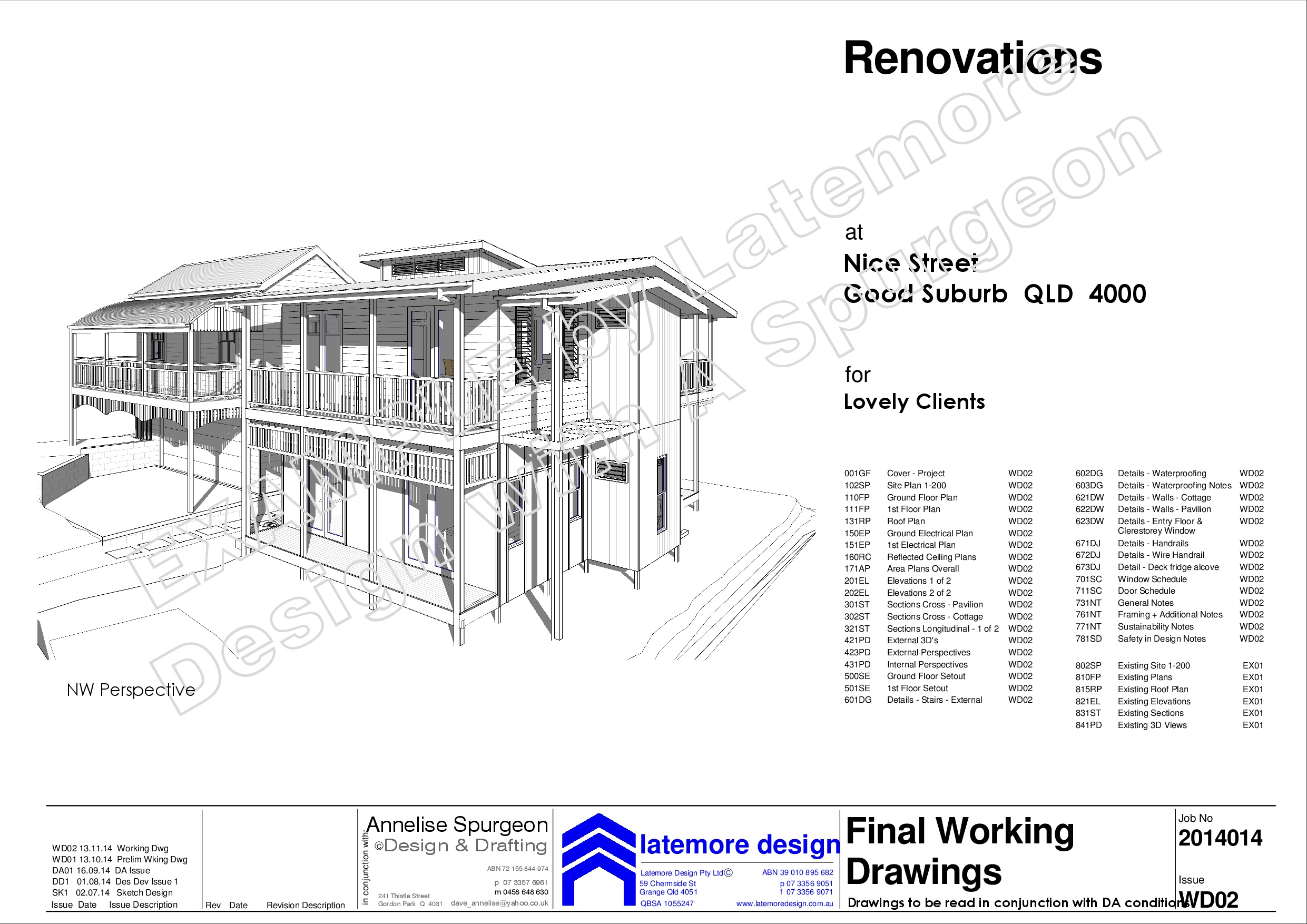 Latemore Design | Example Drawings from Latemore Design