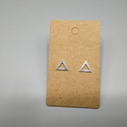 Pendientes Plata triangulo