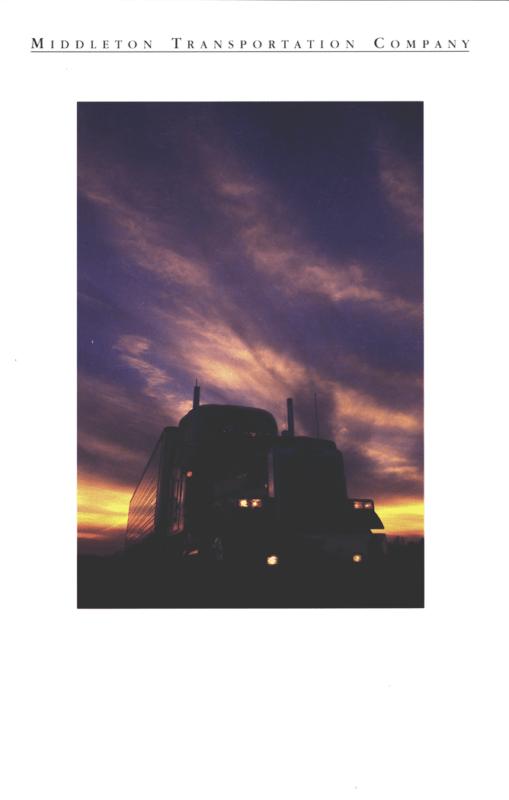 Middleton Transportation Company brochure