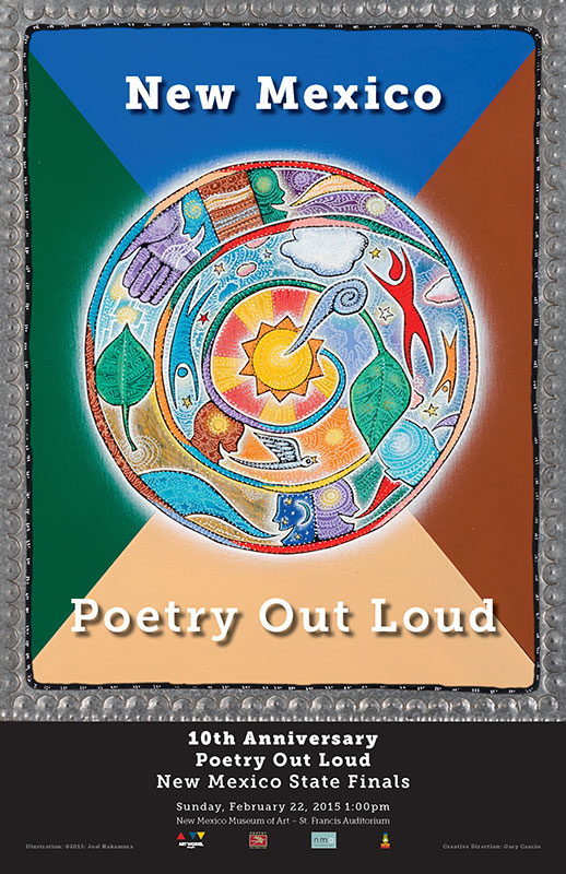 NMArts Poetry Out Loud 2015 poster