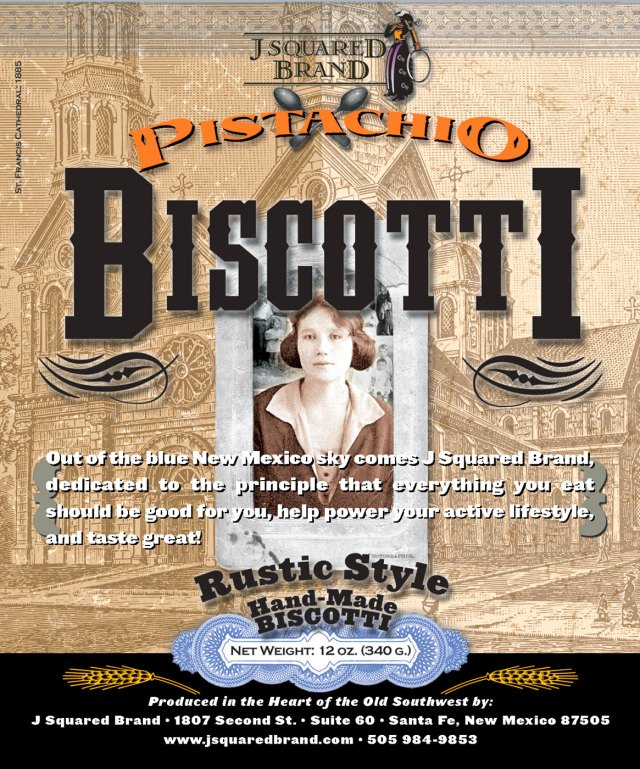 Pistachio Biscotti label design