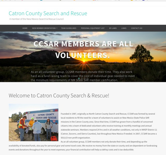 Catron County SAR web site