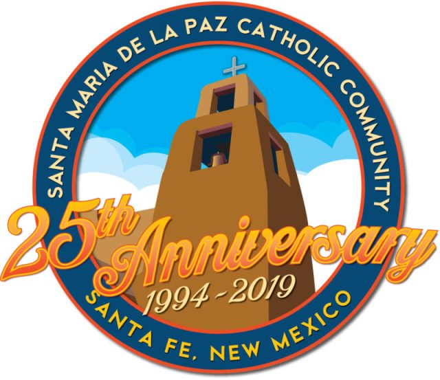 Santa Maria de la Paz 25th Anniversary logo