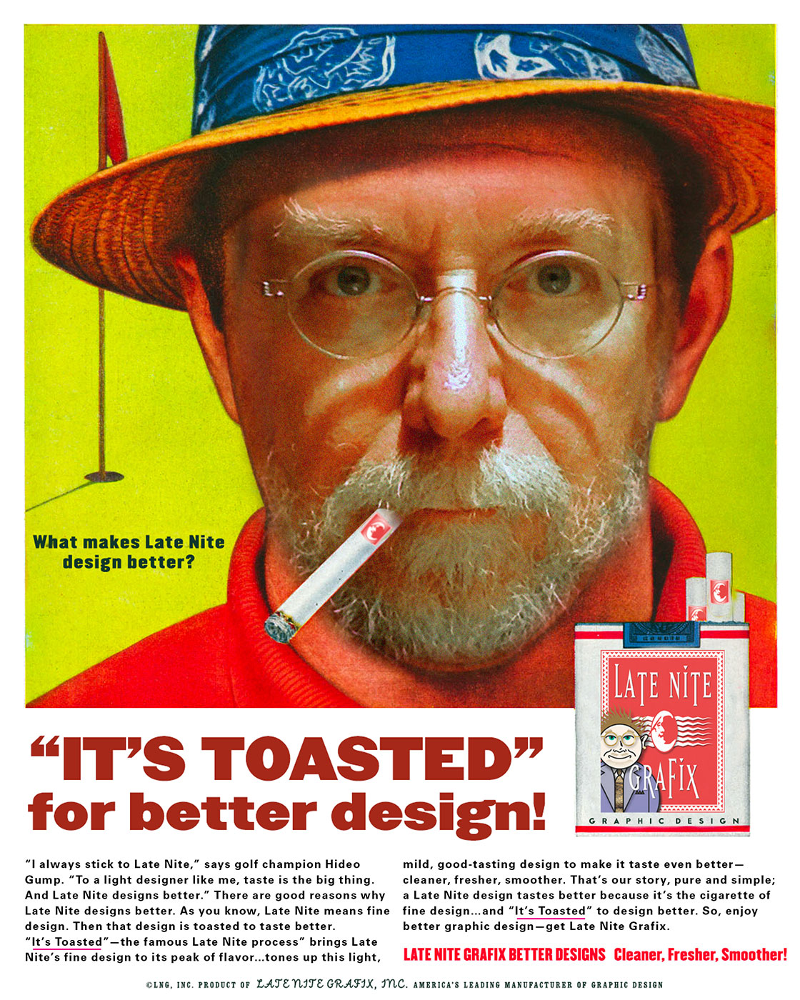 It's Toasted for Better Design!