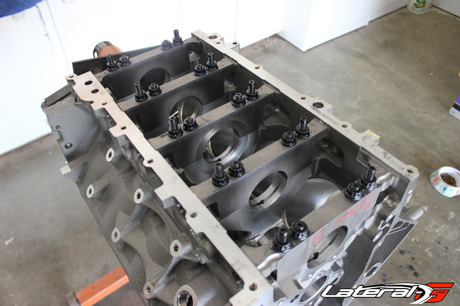 The start of the build, getting the block back from QMP Racing.