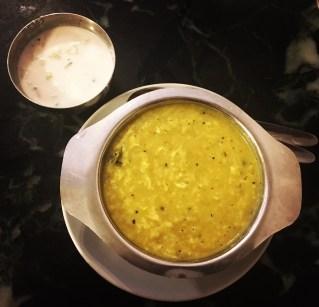 Pongal with raita