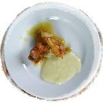 Delicias de pollo con crema de puerros de La Terraza - Sada