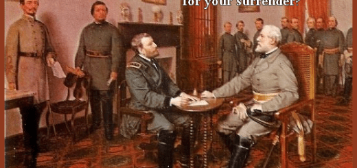 Debt Limit Crisis 2013 - General Lee demands General Grant's surrender in Appomattox