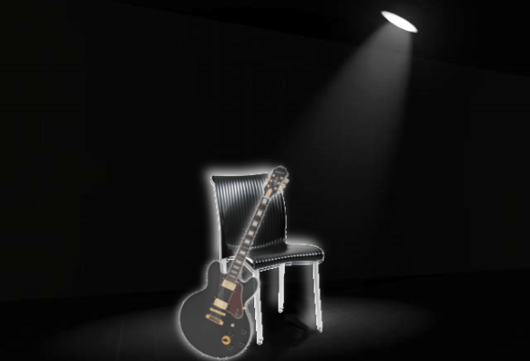 BB King - spotlight memorial with Lucille