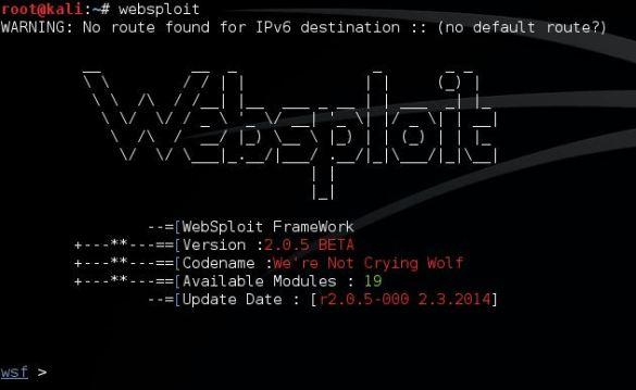 websploit-start