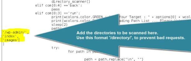 websploit-directory-scanner-custom-dirs