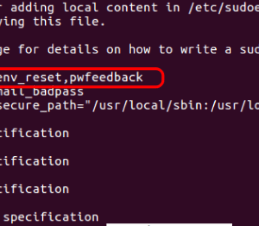 password visible in terminal