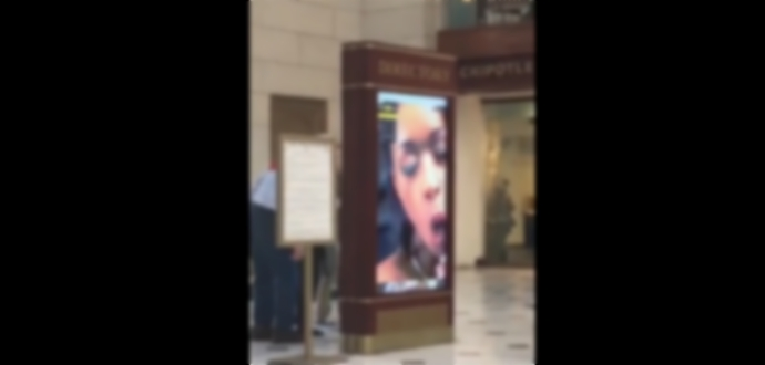 Hackers Played a porn video on Ad screen of Union Station!
