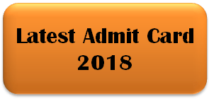 Latest Admit Card Update India