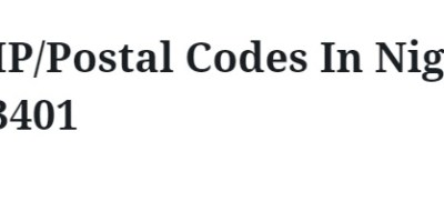 ZIP-Postal-Codes-In-Nigeria.
