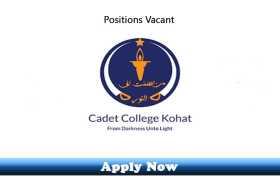 Jobs in Cadet College Kohat 2020