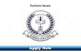 Jobs in Bahria College Karsaz Karachi 2020 Apply Now