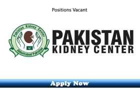 Jobs in Pakistan Kidney Center 2020 Apply Now