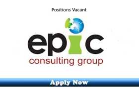 Jobs in Epic Consulting Group Lahore 2020 Apply Now