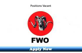 Jobs in Frontier Works Organization FWO 2020