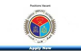 2738 New Jobs in Pakistan Ordinance Factories Board Wah Cantt 2020