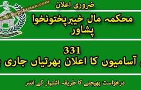 331 New Jobs in Revenue Estate Department Peshawar 2020