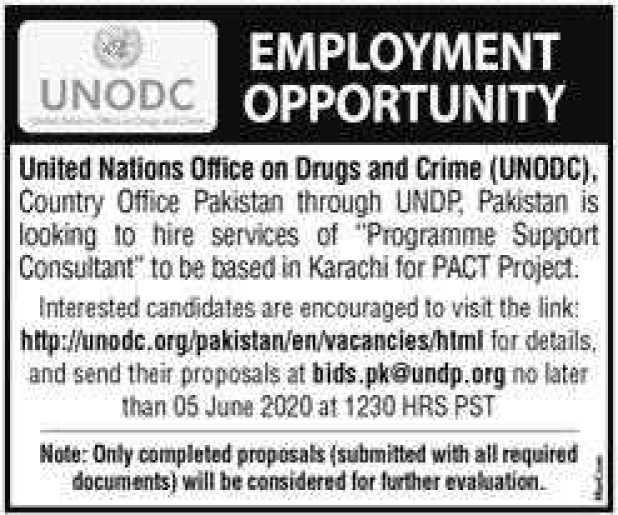 Jobs in UNODC 2020