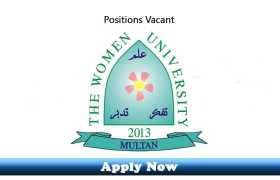 Walk-In-Interview for Daily Wages Jobs at Women University Multan 2020