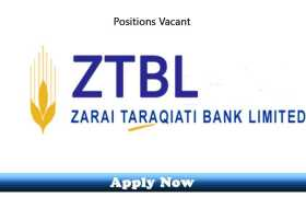 Jobs in Zarai Taraqiati Bank Limited 2020