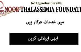 Jobs in Noor Thalassemia Foundation 2020