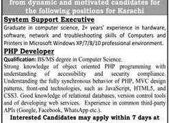Jobs in a Well Established Group in Karachi 2020