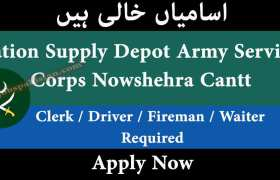 Station Supply Depot Army Services Corps Nowshehra Cantt