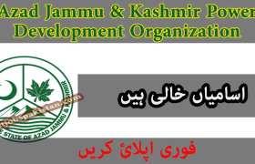 Jobs in Azad Jammu & Kashmir Power Development Organization Muzaffarabad 2020