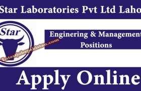 Star Laboratories Pvt Ltd Lahore Jobs 2020