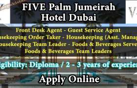 Five Palm Jumeirah Careers Dubai 2020